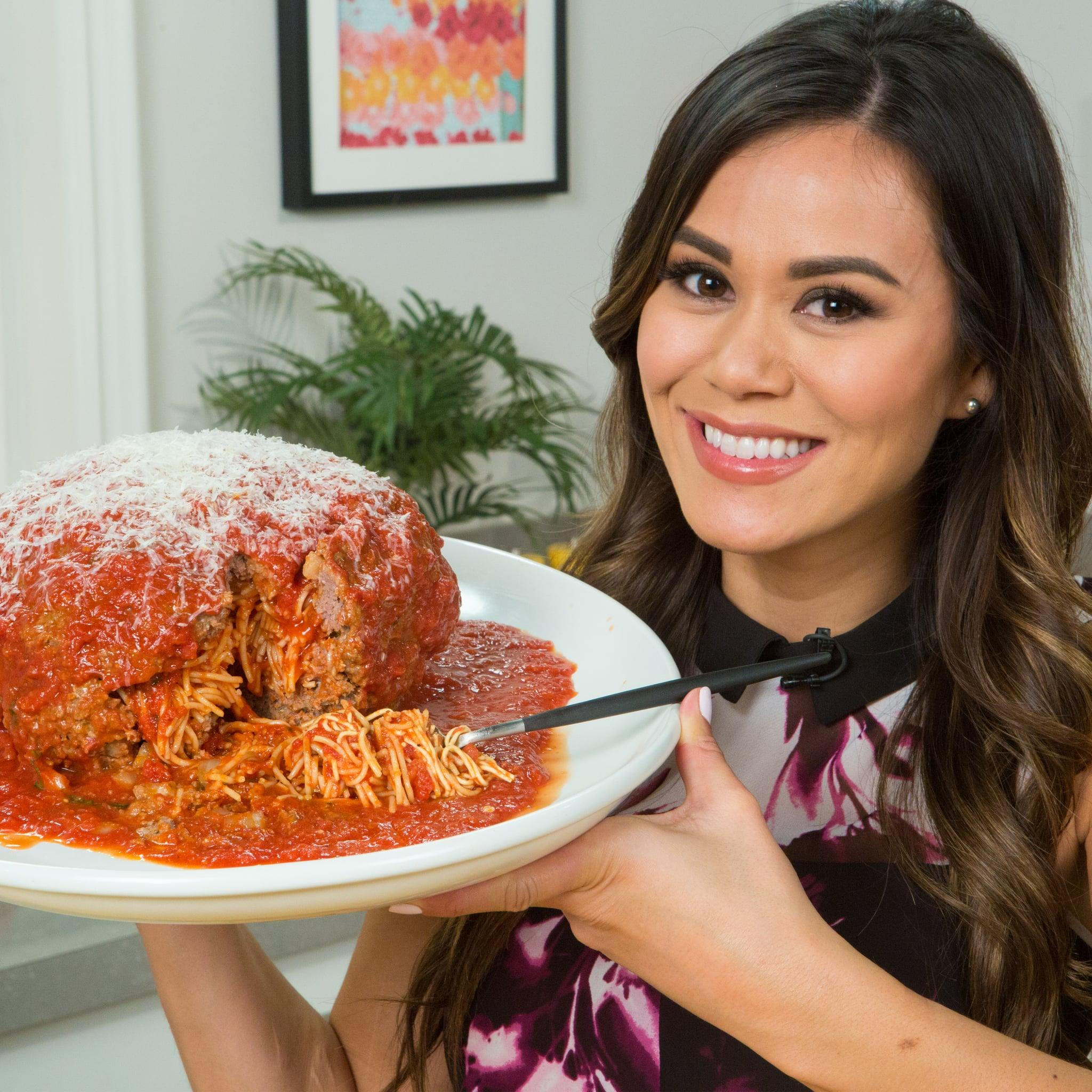 Eat The Trend Giant Meatball Stuffed With Spaghetti