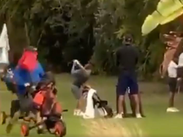 Tiger Woods's son Charlie in action on the golf course: Twitter