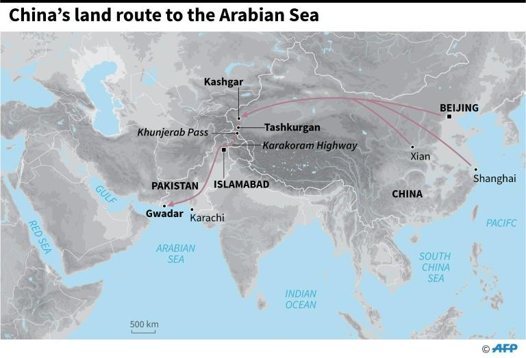 Graphic on the China-Pakistan land route