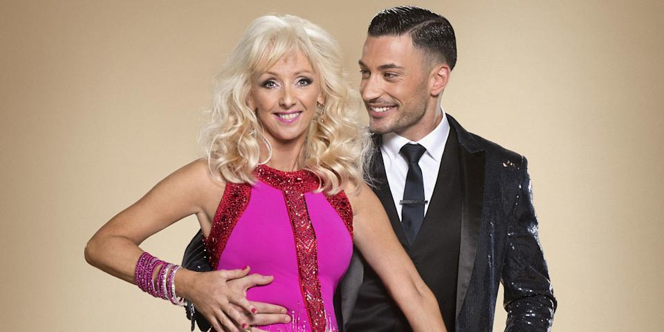 Debbie with her Strictly dance partner Giovanni Pernice. Copyright: [BBC]