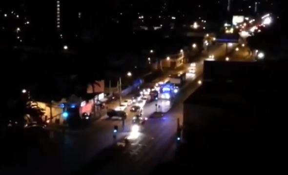 Helicopter explodes on streets of Santiago (video)