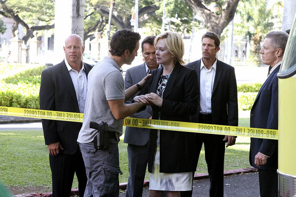 """BEST: """"<a href=""""/hawaii-five-o/show/46551"""">Hawaii Five-0</a>"""" — We were initially going to write this show off as just another cop procedural, but its freshman season was a pleasant surprise, particularly its exciting finale. McGarrett had been trying to take down gangster Wo Fat all season while also investigating his mother's murder when he found out that the governor, who was supposedly his friend, had really been stabbing him in the back. And worse? Wo Fat had her killed and framed McGarrett for it. It's all a big mess that we can't wait to see untangled."""