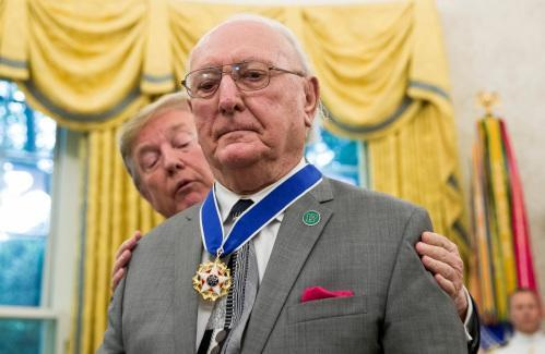 Trump awards Medal of Freedom to Boston Celtics great Bob Cousy