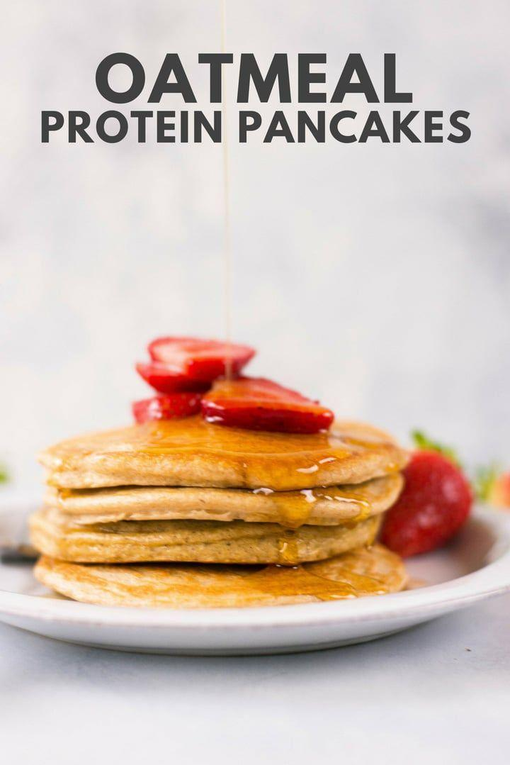 """<p>One of the simplest protein pancakes recipe deviates from the traditional flour and egg ingredients by replacing them oats. All you'll need is seven ingredients and ten minutes and voila!</p><p>Try the recipe for yourself: <a class=""""link rapid-noclick-resp"""" href=""""https://www.asweetpeachef.com/protein-pancakes/"""" rel=""""nofollow noopener"""" target=""""_blank"""" data-ylk=""""slk:asweetpeachef.com"""">asweetpeachef.com</a></p>"""