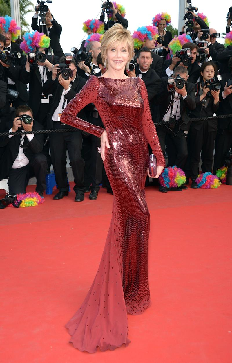 """Wearing a Roberto Cavalli gown atthe""""Madagascar 3: Europe's Most Wanted"""" premiere during the 65th Annual Cannes Film Festival at Palais des Festivals on May 18, 2012, in Cannes, France."""