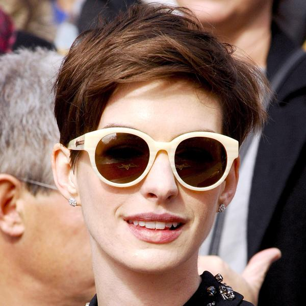 <b>Anne Hathaway's choppy pixie crop</b> is bang-on-trend for 2013 and works for anyone with Anne's delicate features and face shape ©Rex