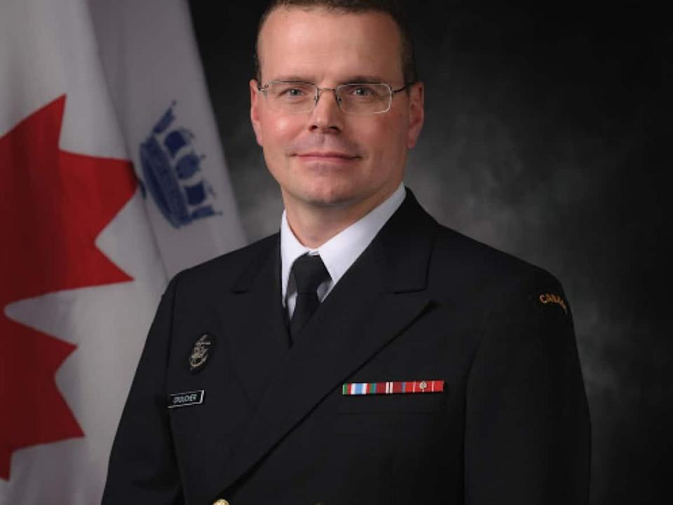 Sources tell CBC News Cmdr. Danny Croucher, the former commandant of Navy Fleet School Atlantic, was supposed to be released from the military after an investigation found wrongdoing related to sexual misconduct. (Danny Croucher/LinkedIn - image credit)