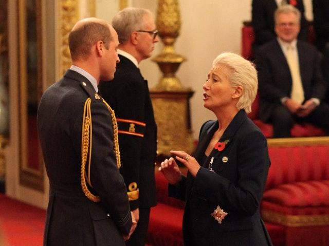Emma Thompson is made a Dame Commander of the British Empire