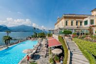 One of the oldest and most elegant hotels on Lake Como, the neo-classical Grand Hotel Villa Serbelloni has pampered guests since 1873. It welcomed aristocracy from around the world almost since the beginning. Then came the political titans (Churchill, Roosevelt, Kennedy) and celebrities (Mary Pickford, Clark Gable, and, later, Al Pacino). Everything is opulent. There are frescoes and paintings of mythological scenes, gilded frames, festoons, temples, putti, flamingos, and Pompeian reds. Then there are period wall coverings in French style, antique Persian carpets, crystal chandeliers from Murano, marble staircases, and trompe l'oeil. If it all starts to feel like too much, head out to the Italian-style gardens, where the uncluttered views of the blue water and soaring green mountains can't be beat.