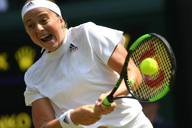 Five sets?: Good question, says Jelena Ostapenko (AFP Photo/NEIL HALL)