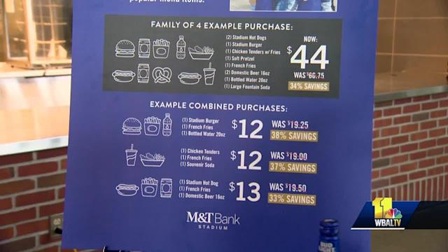 In order to further enhance the fan experience at M&T Bank Stadium, the Baltimore Ravens has announced some up and coming changes, including cheaper eats. Dick Cass, president of the Ravens organization, has heard it all when it comes to complaints from fans, and now he's going to do something about it.