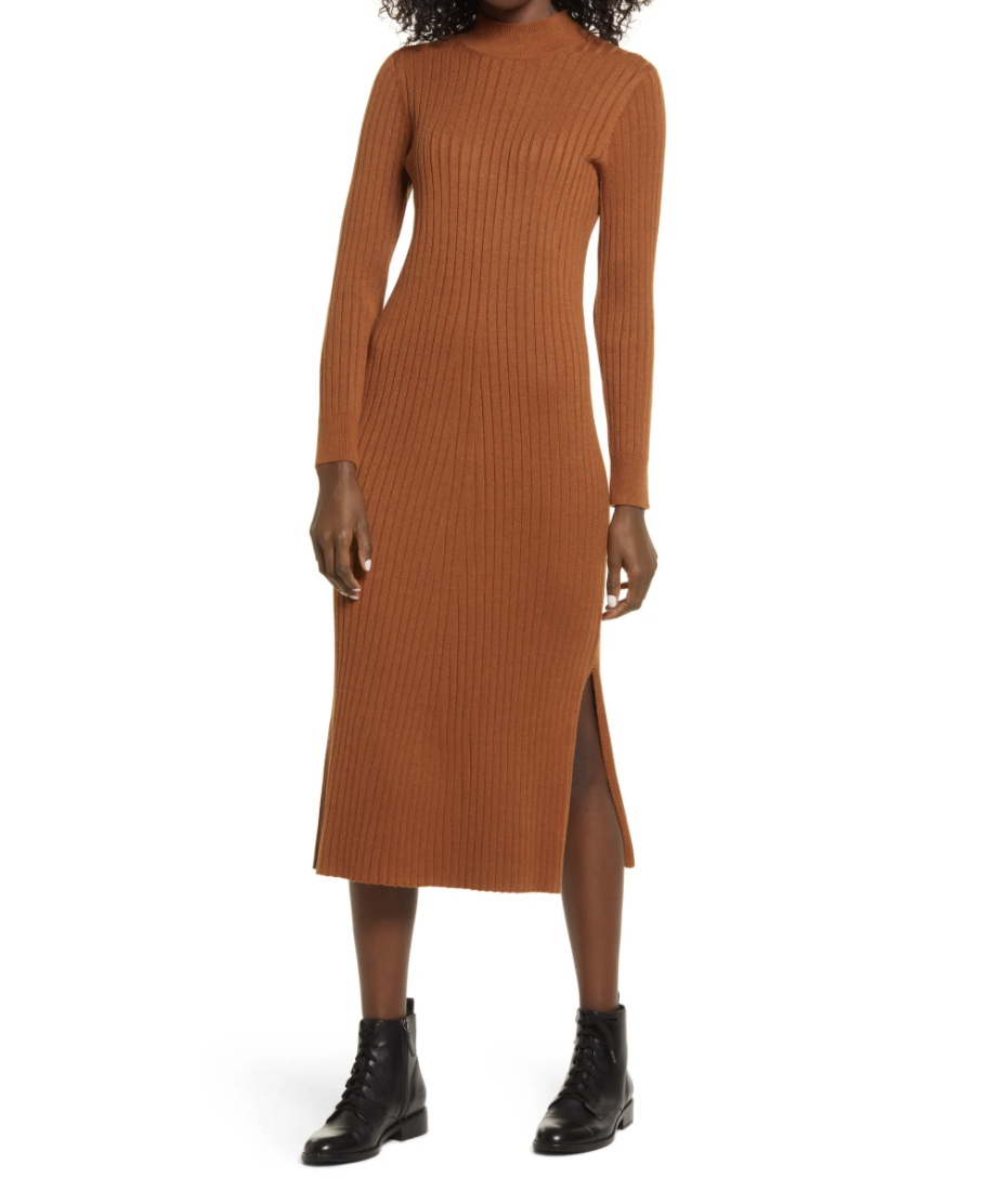 Charles Henry Long Sleeve Mock Neck Sweater Dress- Nordstrom, $45 (originally $89)
