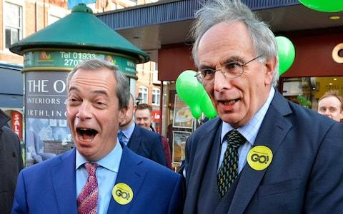 Nigel Farage and Peter Bone - Credit: John Robertson for The Telegraph