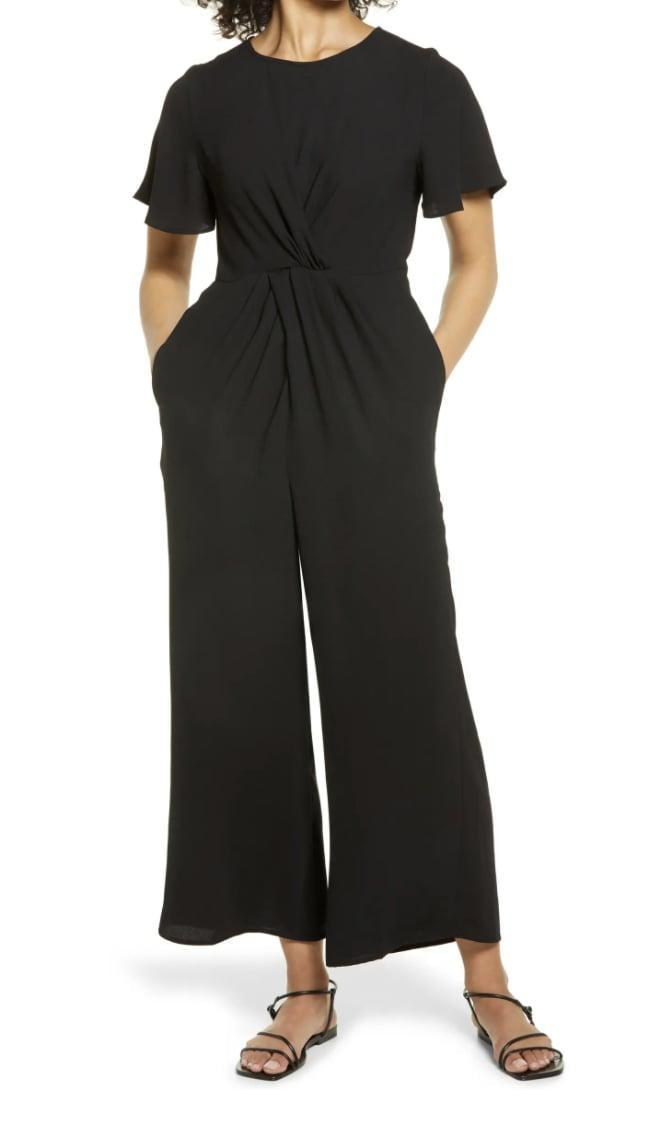 <p>You'll look so effortlessly cool in this <span>Halogen Twist Front Wide Leg Jumpsuit</span> ($33, originally $79).</p>