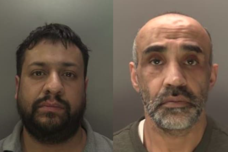 Shakti Gupta (l) and Baldev Singh Sahota (r) have been jailed over one of Britain's biggest drugs busts. (Metropolitan Police)
