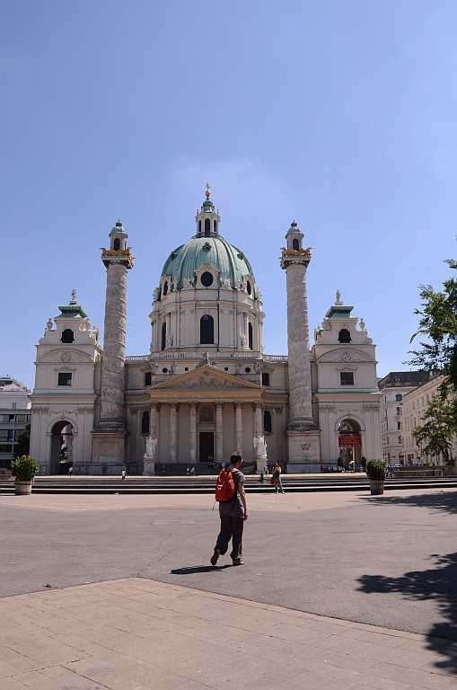 St Peter's Church, Vienna  Inspired by the design of St Peter's Basilica in Vatican, this 18th century Baroque Roman Catholic church is referred to as Peterkirche. It was one of the first monuments that I saw in the beautiful city of Vienna, filled with churches, cathedrals and castles, the dome sparkling in the light. There was a Roman church built on this site during the medieval era and it was believed to be the oldest in the city. It was replaced by another Romanesque church, attributed to Emperor Charlemagne, which was burned down in the 17th century.