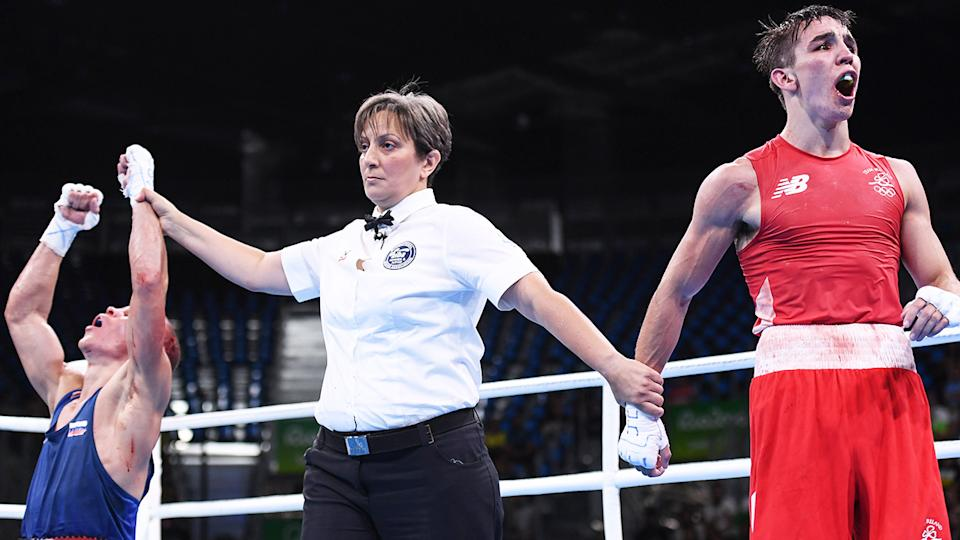 Irishman Michael Conlan was furious at the result of his 2016 Rio semi-final, which has since been one of a number bouts at the games to be investigated over corruption claims. (Photo By Stephen McCarthy/Sportsfile via Getty Images)
