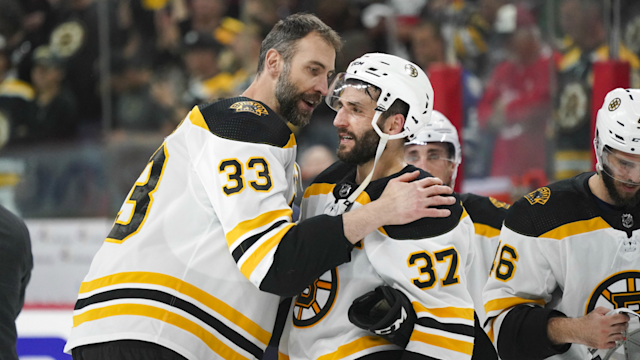 The Boston Bruins punched their ticket to the Stanley Cup Final with a dominant 4-0 win over the Carolina Hurricanes Thursday. Here's how the matchup played out.