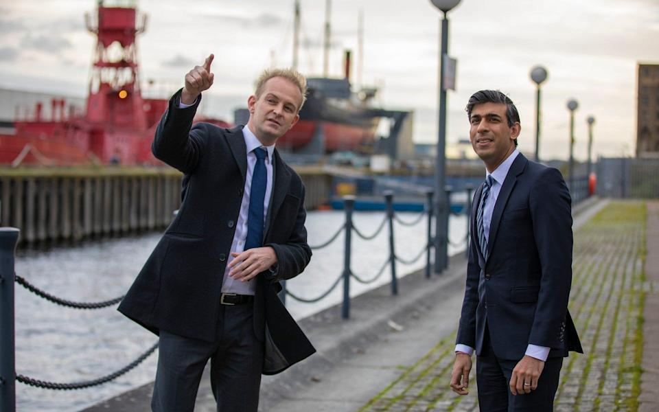 The Chancellor Rishi Sunak visits The Royal Docks in London to announce the UK's Freeports strategy - Simon Walker/HM Treasury