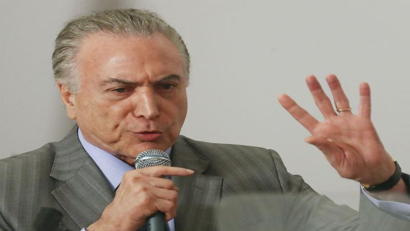 Brazil's President Michel Temer Charged with Corruption, Money Laundering