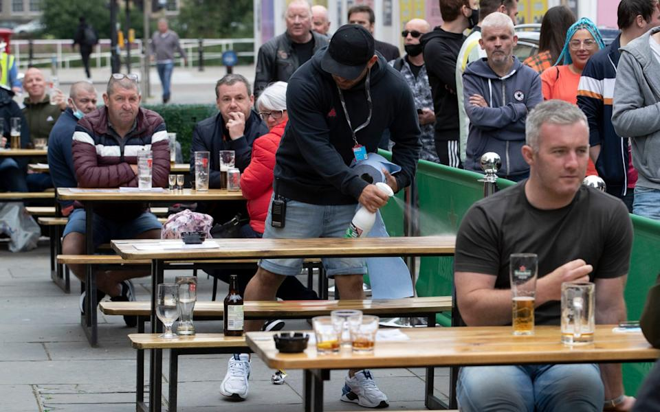 Pubs have already been able to open outdoor areas, but will be able to welcome customers inside from Wednesday - Jane Barlow/PA