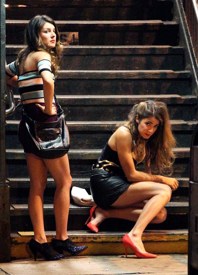 "Nikki Reed and Shenae Grimes were filming ""Empire State"" in Queens."