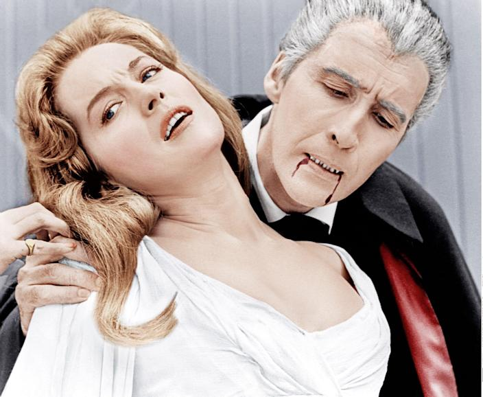 With Christopher Lee in Dracula: Prince of Darkness - Everett/REX Shutterstock