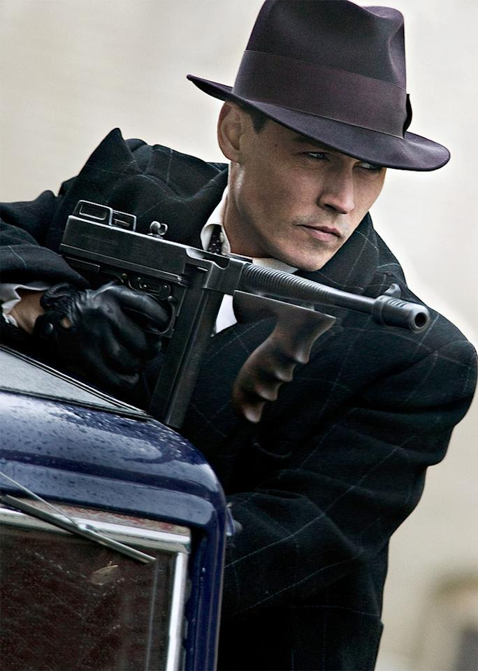 """7/1 - <a href=""""http://movies.yahoo.com/movie/1810021973/info"""">PUBLIC ENEMIES</a>   Johnny Depp stars as legendary bank robber John Dillinger and Christian Bale is the G-man on his tail in this true crime drama directed by Michael Mann."""