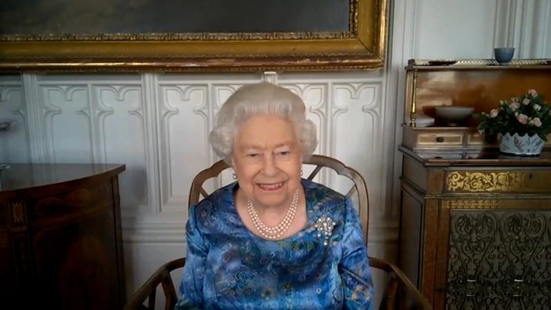 EMBARGOED TO 2200 TUESDAY JULY 14 Undated handout screengrab of Queen Elizabeth II during a video call from Windsor Castle with members of the Armed Forces based across the globe. PA Photo. Issue date: Tuesday July 14, 2020. The Queen spoke to representatives from the British Army, Royal Navy and Royal Air Force, as well as the Chief of the Defence Staff General Sir Nick Carter. See PA story ROYAL Queen. Photo credit should read: Buckingham Palace/PA Wire NOTE TO EDITORS: This handout photo may only be used in for editorial reporting purposes for the contemporaneous illustration of events, things or the people in the image or facts mentioned in the caption. Reuse of the picture may require further permission from the copyright holder.