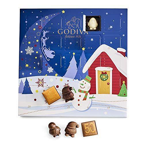 """<p><strong>Godiva Chocolatier</strong></p><p>amazon.com</p><p><strong>$29.95</strong></p><p><a href=""""https://www.amazon.com/dp/B08HHF2J5J?tag=syn-yahoo-20&ascsubtag=%5Bartid%7C1782.g.23601255%5Bsrc%7Cyahoo-us"""" rel=""""nofollow noopener"""" target=""""_blank"""" data-ylk=""""slk:Shop Now"""" class=""""link rapid-noclick-resp"""">Shop Now</a></p><p>Indulge in a little Godiva to countdown to Christmas. You'll get 24 days of milk, white, and dark chocolates.</p>"""