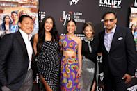 <p>Jon M. Chu, Stephanie Beatriz, Melissa Barrera, Leslie Grace, and Jimmy Smits attend a special preview screening of <em>In the Heights</em> at the 2021 Los Angeles Latino International Film Festival in Hollywood.</p>