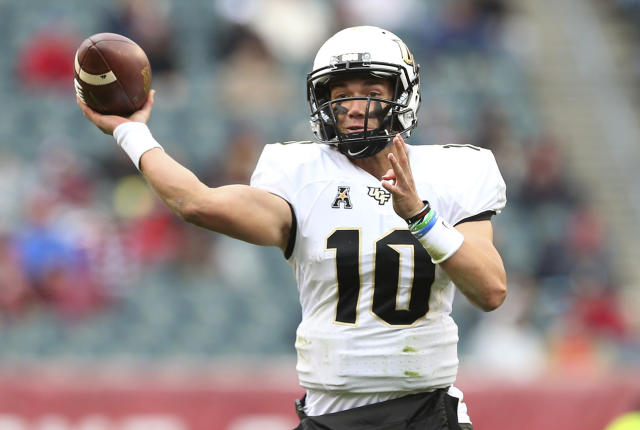 Central Florida coach Josh Heupel inherits a quarterback, McKenzie Milton, who finished eighth in the Heisman voting last year after he led the Knights to an improbable 13-0 record. (AP file photo)