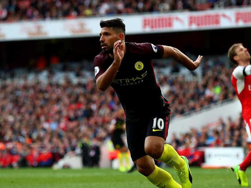 Aguero put Manchester City just before half-time (Getty)