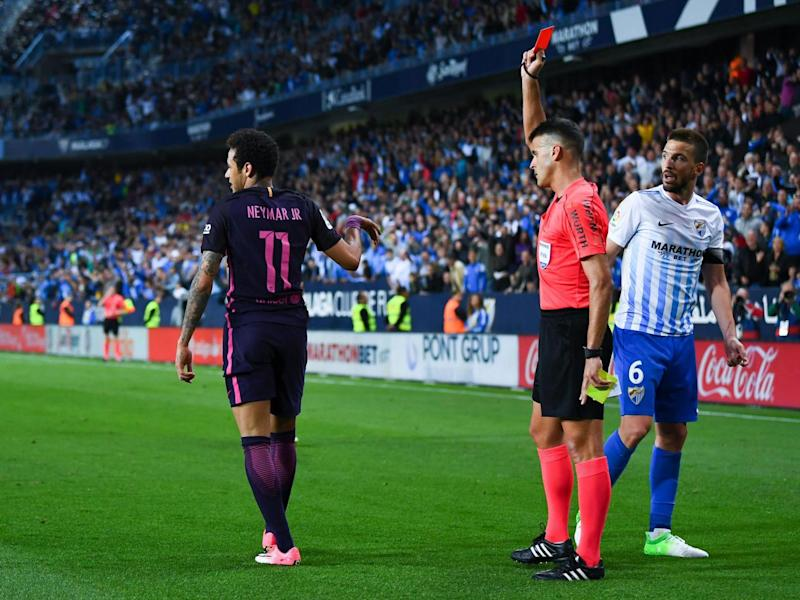 Neymar was furious with his red card (Getty)