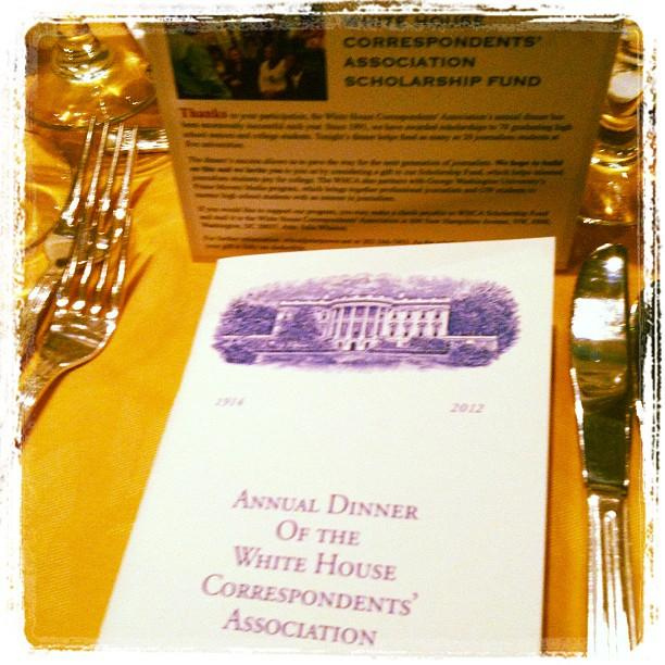 The official #WHCD program at our first ever Yahoo! table.