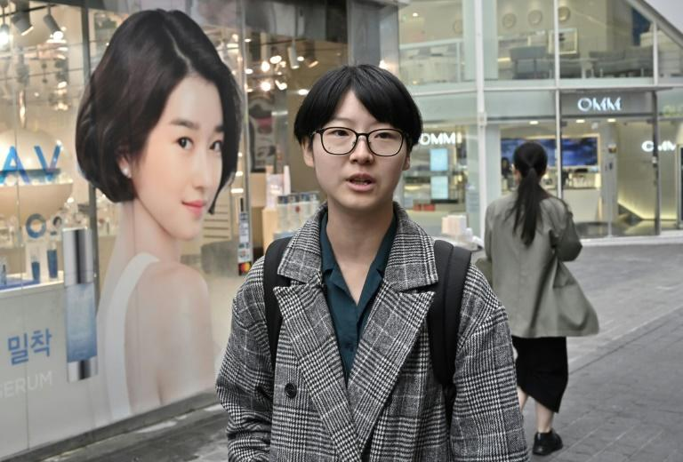 Yoon Ji-hye, a 24-year-old YouTuber in South Korea, is no longer interested in marriage, having children or even dating (AFP Photo/Jung Yeon-je)
