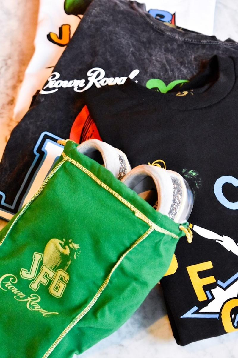 Crown Royal Regal Apple partners with designer, creator and collaborator Joe Freshgoods as Creative Director to curate limited-edition merch experience including a Crown Royal Regal Apple Bag re-imagined as a sneaker bag