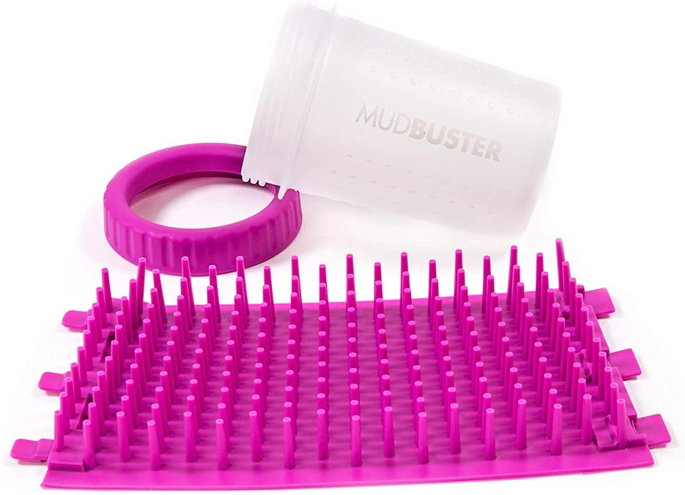 The MudBuster assembles to create an easy way to clean your dog's paws. (Image via Amazon)