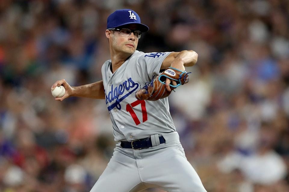 Dodgers' reliever Joe Kelly directed some strong words at an official scorer in Colorado. (Photo by Matthew Stockman/Getty Images)