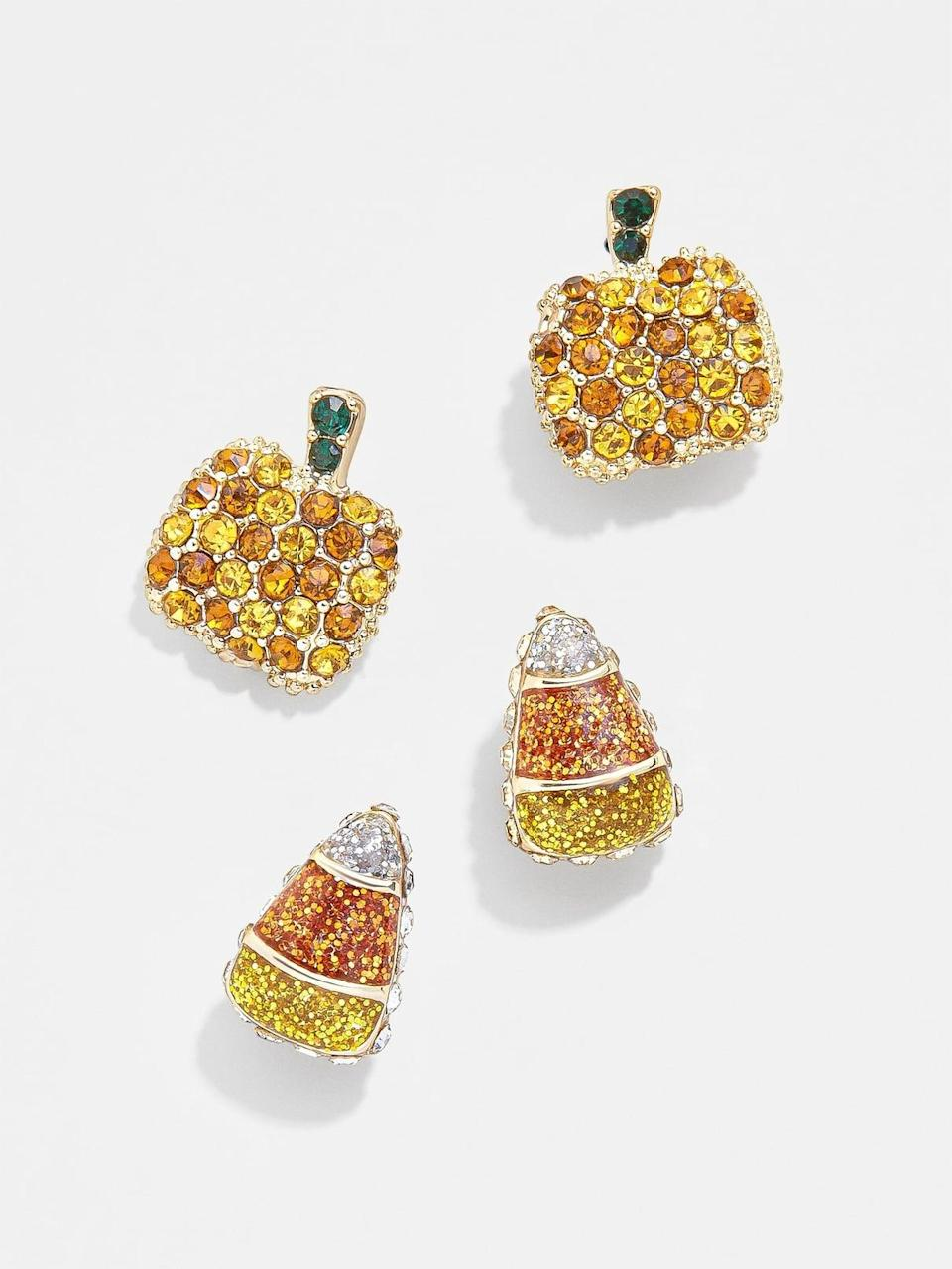 <p>If you're someone who likes a more understated earring, get this <span>BaubleBar Spooky Earring Set</span> ($42). The studs are small and dainty, plus, if you have a double piercing, you can wear all four at once.</p>