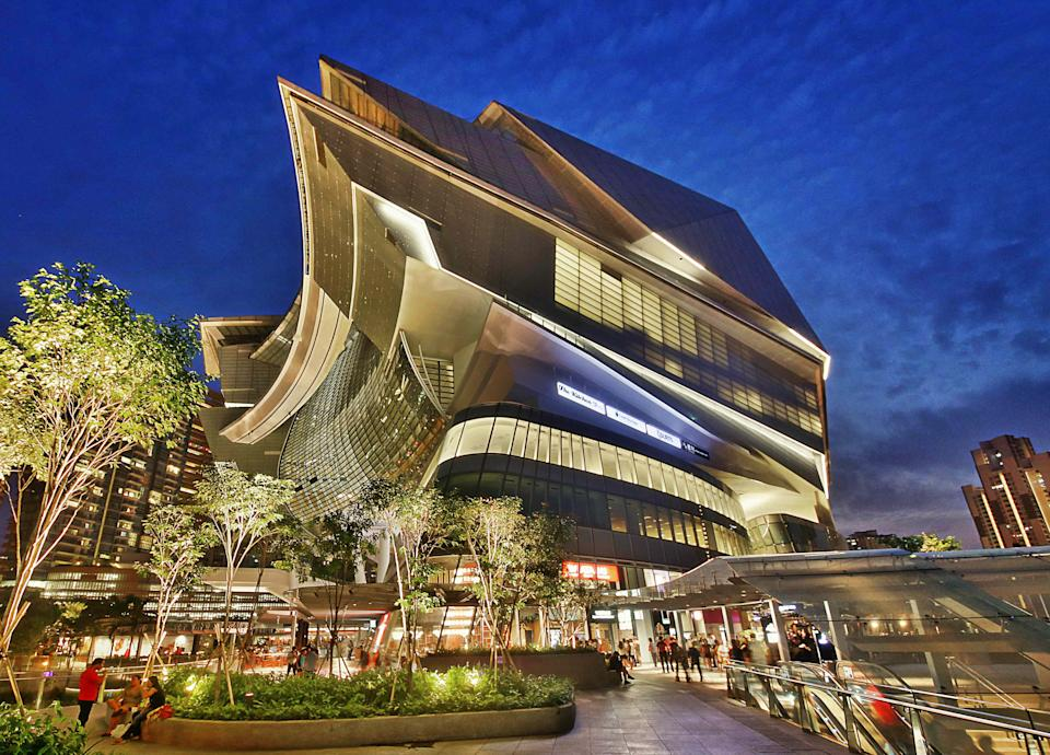 Located next to the Buona Vista MRT Interchange, The Star Vista is part of a 15-storey integrated development which includes the 5,000-seat The Star Performing Arts Centre. (PHOTO: CapitaLand)