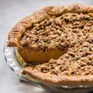 """This aromatic alternative to pumpkin pie calls for fresh (not canned!) squash and a new twist on the classic crumble topping. <a href=""""https://www.epicurious.com/recipes/food/views/spiced-kabocha-squash-pie-with-pumpkin-seed-crumble-51257280?mbid=synd_yahoo_rss"""" rel=""""nofollow noopener"""" target=""""_blank"""" data-ylk=""""slk:See recipe."""" class=""""link rapid-noclick-resp"""">See recipe.</a>"""