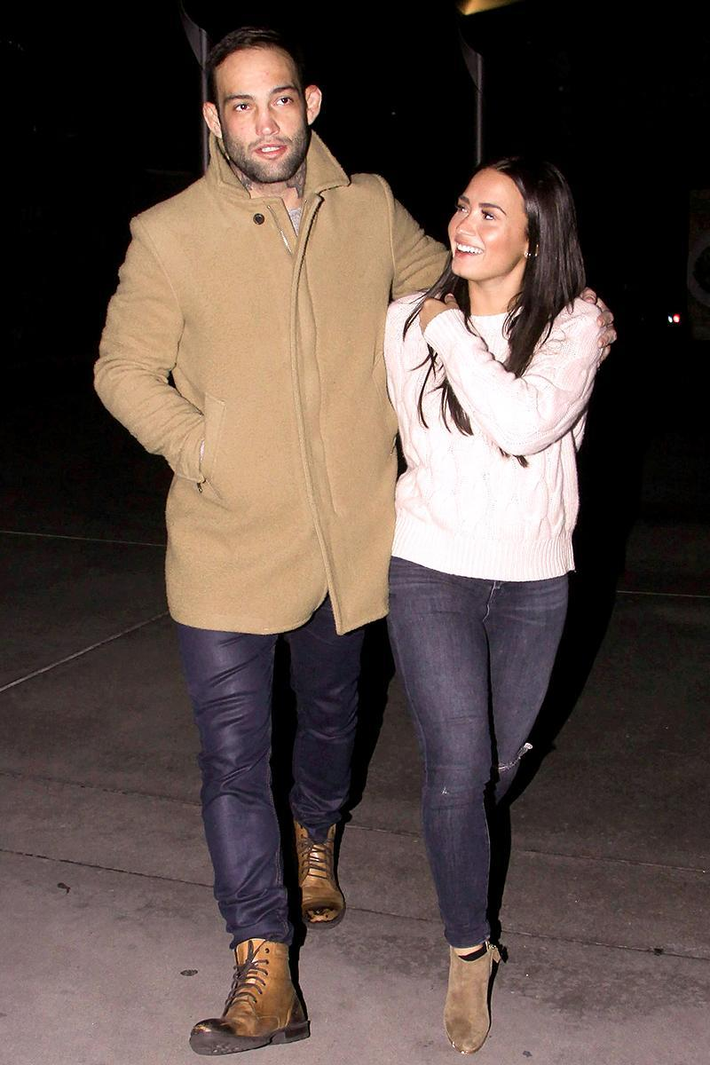 """<p>While technically Demi Lovato and UFC fighter Luke Rockhold split in 2016, it only became apparent that they were off over New Year's weekend, when she <a rel=""""nofollow"""" href=""""https://www.yahoo.com/celebrity/demi-lovato-splits-with-boyfriend-rekindles-romance-with-guilherme-bomba-vasconcelos-214933745.html"""" data-ylk=""""slk:shared snapshots;outcm:mb_qualified_link;_E:mb_qualified_link;ct:story;"""" class=""""link rapid-noclick-resp yahoo-link"""">shared snapshots</a> of her partying with another guy: MMA fighter Guilherme """"Bomba"""" Vasconcelos, whom she dated back in the summer of 2016. Perhaps they'll have better luck this time around. (Photo: Backgrid AU/AKM-GSI) </p>"""