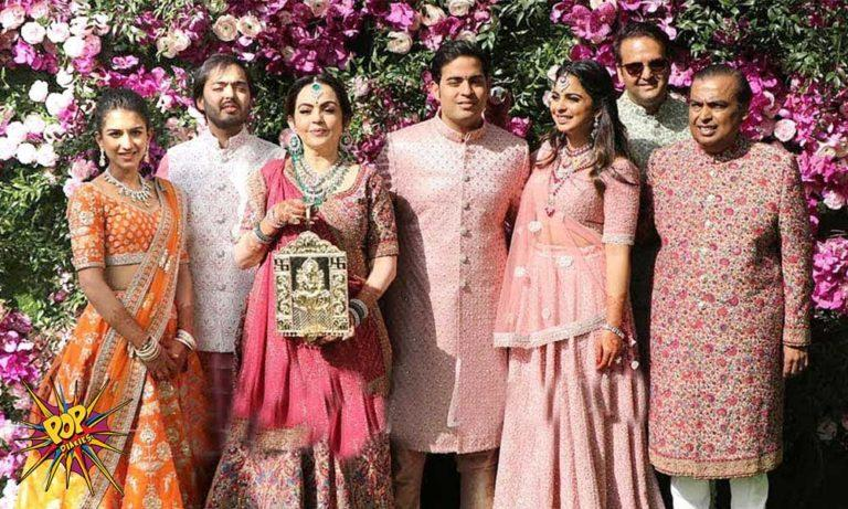 Watch The Ambani Family Enters In A Grand Style At Akash