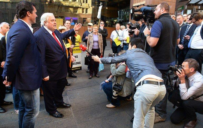 From Clive Palmer (2nd L; pictured in Sydney on August 27, 2013), a larger-than-life billionaire who is rebuilding the Titanic, to WikiLeaks' Julian Assange, the Australian election boasts a cast of unlikely candidates who are shaking up the political scene