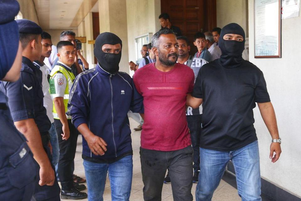 Suspected Liberation Tigers of Tamil Eelam sympathiser V. Suresh Kumar is pictured at the Kuala Lumpur High Court October 31, 2019. — Picture by Ahmad Zamzahuri