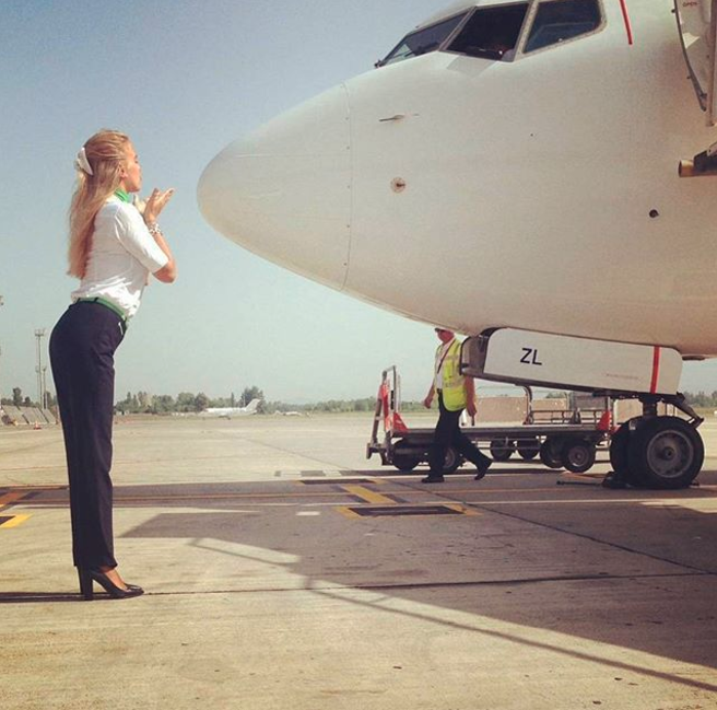 Life as a hostie isn't one big party. Photo: Instagram