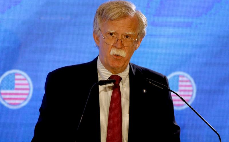 US National Security Advisor John Bolton was speaking during a visit to Jerusalem