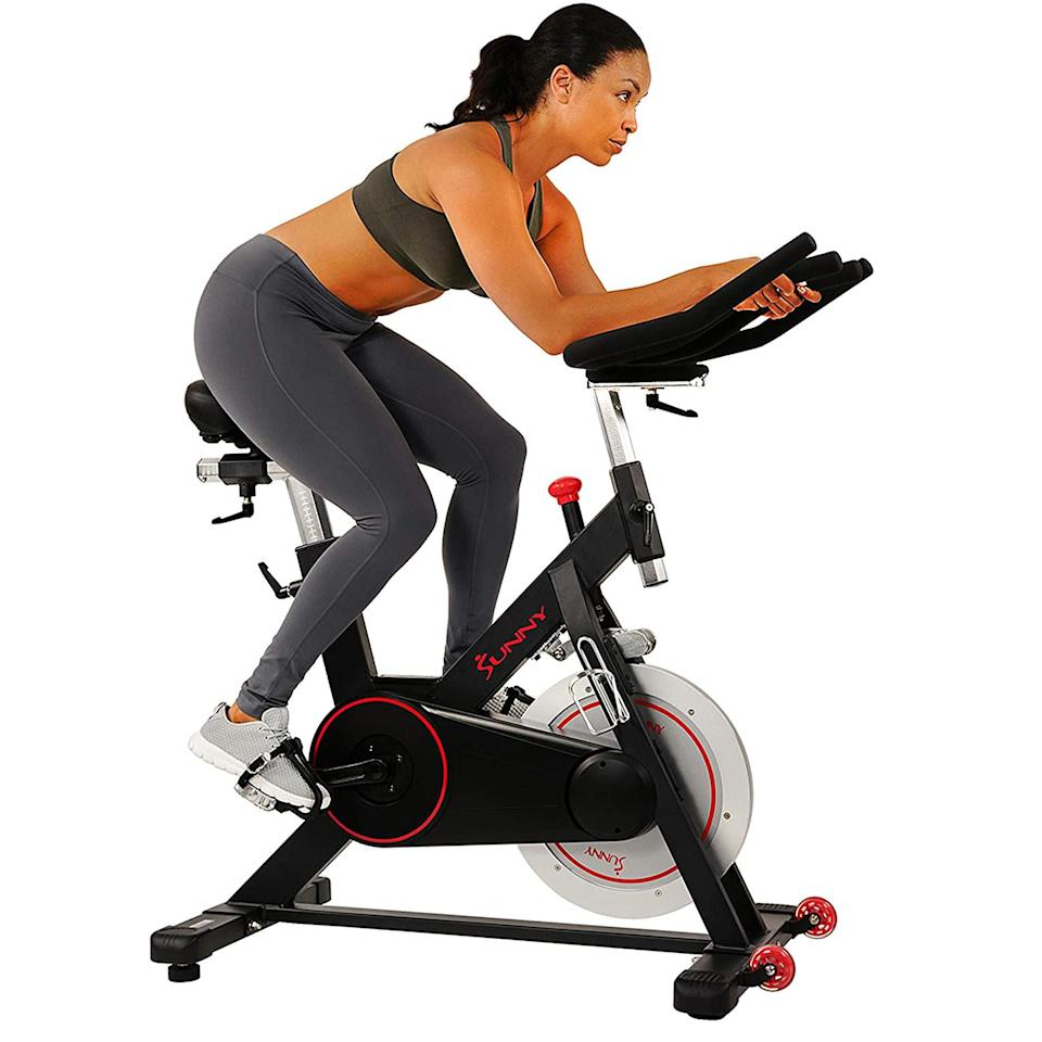 sunny health & fitness indoor cycling bike, budget exercise bikes