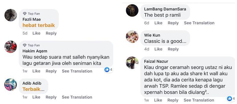 Social media users complimented the couple for their beautiful rendition of P. Ramlee's classic. — Screengrab via Facebook/ERA (Malaysia).
